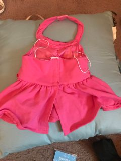 EUC PINK BUILD A BEAR DRESS