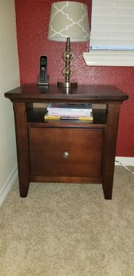 Brown nightstand or file cabinet