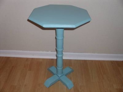 Teal candlepicture stand