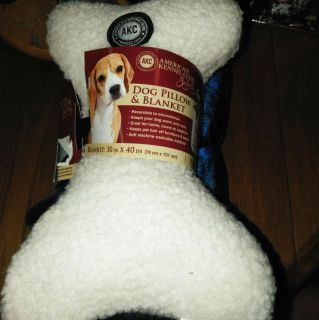 New AKC Dog Pillow and blanket