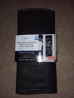 *24 pocket over the door shoe organizer (several available)