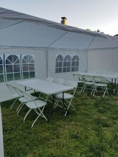 Tables chairs. Canopies. Jumpers