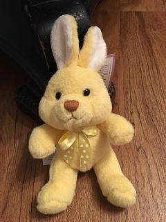 New with tags. Little yellow bunny stuffed animal. Asking $2.50