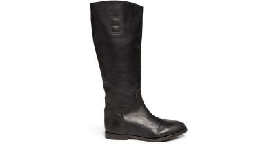 Ash Prince Bias Black Leather Riding Boots 37