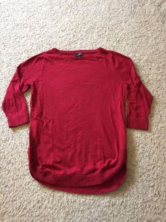 Red 3/4 sleeve tunic from The Limited size medium