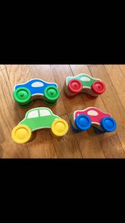 Melissa and Doug wooden cars