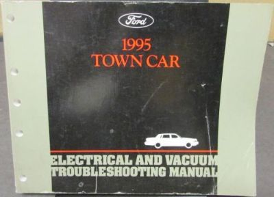 Purchase 1995 Lincoln Town Car Electrical & Vacuum Trouble Shooting Shop Service Manual motorcycle in Holts Summit, Missouri, United States, for US $20.00