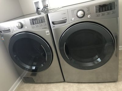 LG TrueSteam Washer and Gas Dryer