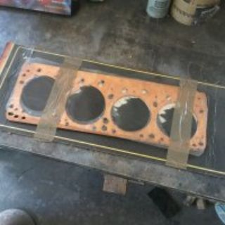 392 HEMI soft copper head gaskets & Exhaust gskt new
