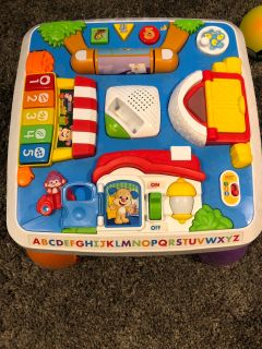 Interactive stand and play toddler table.