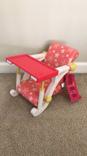 Our Generation Doll Clip On High Chair for American Girl Dolls