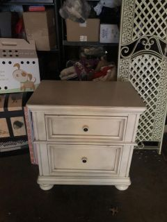 Cream night stand or side table dresser