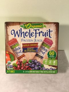 Whole truth organic apple cherry and apple blueberry fruit bars, expiration April 2021