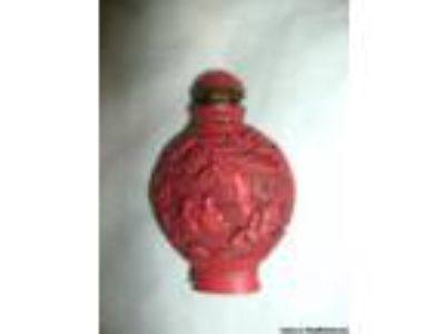 Cinnabar Snuff Bottle - Price: .