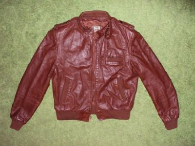 Never Worn Maroon / Brown Leather Jacket ( Size 44 Small )