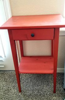 Little RED table w/drawer