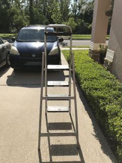4 step folding ladder, commercial type II