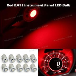 Buy 10X Red BA9S 5050-SMD LED Bulb Instrument Panel Cluster Dash Light Ash Tray Lamp motorcycle in Milpitas, California, United States