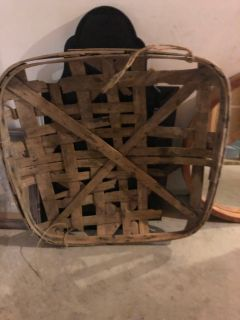 Large Antique Tobacco Basket 40x40
