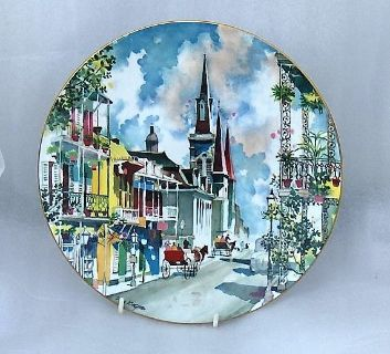 Royal Doulton 1976 NEW ORLEANS French Quarter Plate Dong Kingman 10 1/4""