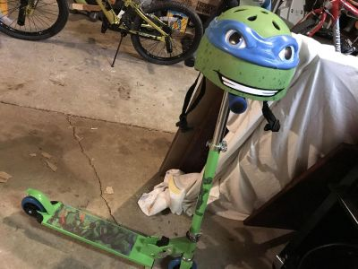 Ninja turtle scooter/helmet