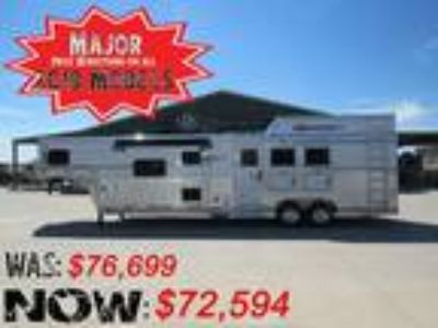2019 SMC 3 Horse Side Load 13 Living Quarters Trailer with 3 horses