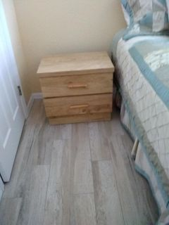 !!! FREE!!! 2-DRAWER BLONDE-WOOD FINISH NIGHT STAND - + SO MUCH MORE FOR FREE!!!
