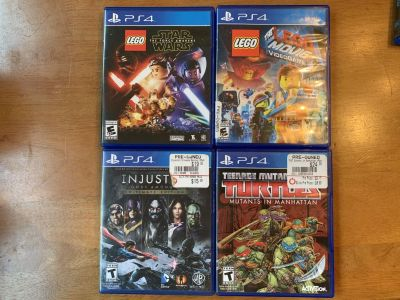 Lot of 4 Games for PS4 LEGO