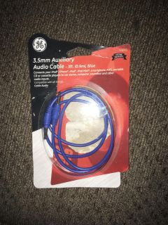 Blue auxiliary cord