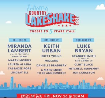 Lake shake 3 day lawn wristbands