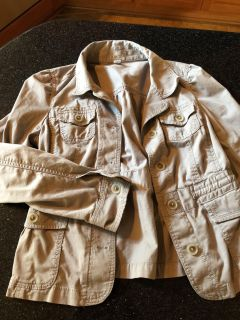 Gray light weight jacket, very cute and gathers in back