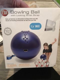 Wii bowling ball new in box just never used!