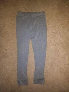 Size 12 Gray Leggings with Silver at bottom