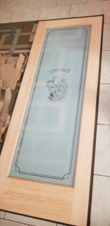 *NEW* Solid wood and etched glass pantry door
