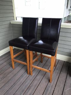 Two barstools 30 height to the seat.