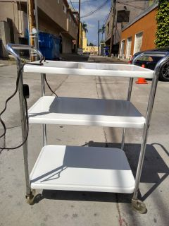 Kitchen Cart/Serving Trolley with Electric Outlet