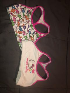 Hello kitty training bras- size small both for $3