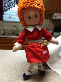 Doll Little Orphan Annie with her dog