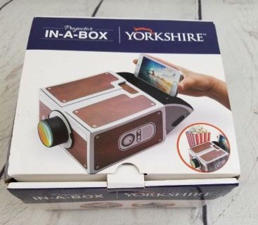 Yorkshire Projector In-A-Box - Portable Phone Projector for Videos and Photos