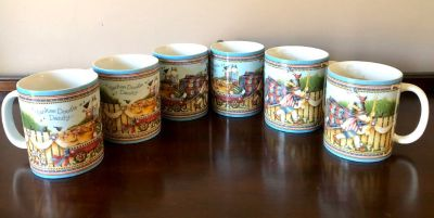 Set of 6 Yankee Doodle Dandy 4th of July Mugs / Microwave & Dishwasher Safe