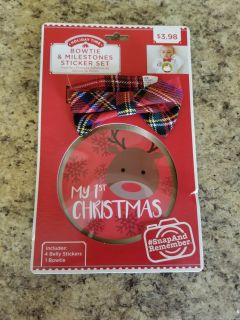 NEW Baby Bowtie and Christmas Stickers Set