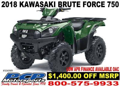 2018 Kawasaki Brute Force 750 4x4i Sport-Utility ATVs Sacramento, CA