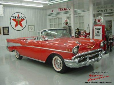 1957 Chevrolet Bel Air Convertible / Red