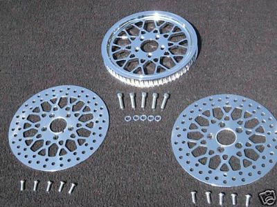 Find MESH STYLE PULLEY W/FRONT & REAR HARLEY ROTORS FLSTN SOFTAIL DELUXE NEW IN BOX motorcycle in Huntington Beach, California, US, for US $295.99