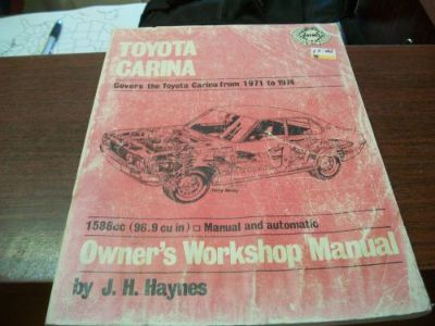 Sell TOYOTA CARINA 1971-1974 ALL MODELS 96.9cu in HAYNES REPAIR MANUAL 150 motorcycle in Golden Valley, Arizona, United States, for US $4.68