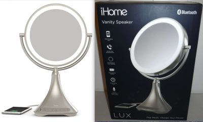 New! iHome Bluetooth Speaker Charger | ~LED 7x Magnify Vanity Mirror ~NIB