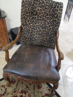 Decorative Leather and Leopard Chair