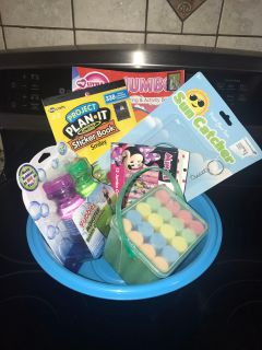 Thomas the tank bowl with summer fun items.