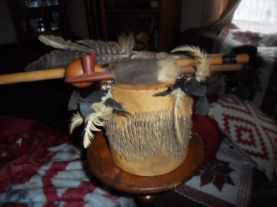 Native American Drum & Peace Pipes