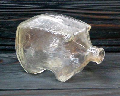 Vintage MidCentury Glass Piggy Coin Bank - Finland